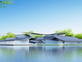 现代剧院建筑3D模型