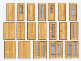 中式木门3D模型