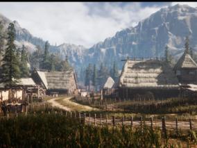 中世纪村落   3d模型