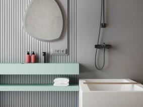现代卫浴 洗澡房 柜子 3d模型