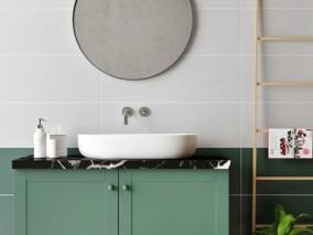 复古卫浴 洗漱盆 镜子 柜子 3d模型