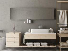 柜子 现代桑拿房 毛巾架 3d模型