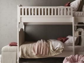 现代 欧式 阁楼 小房间双人床 3d模型