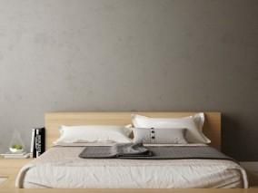 现代 日式木制大床 3d模型