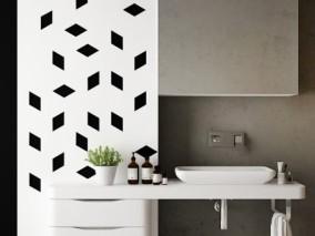 柜子 黑白洗浴缸 台盆 3d模型
