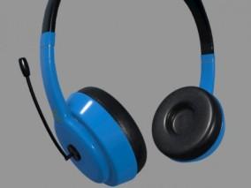 头戴式蓝牙耳机 耳放 音响设备 耳套 电脑耳机 MP3降噪耳机  3d模型