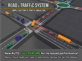 unity 道路交通 红绿灯指示牌 汽车  3d模型