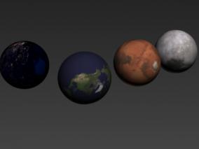 月球表面:8K,16K影视效果 写实月球表面动画场景 3d模型