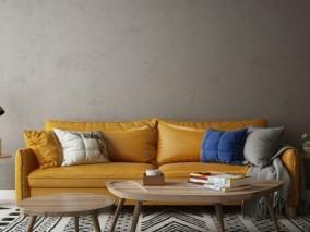 客厅大沙发3D模型
