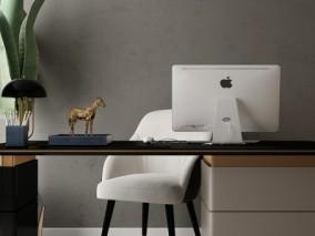 办公室桌椅组合3D模型