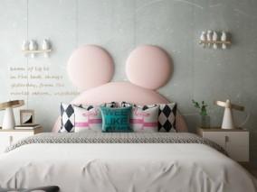 儿童风格床具合集3D模型