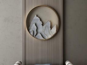 休闲室休息沙发组合3D模型