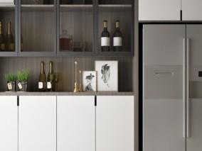 厨房放酒收藏柜子3D模型