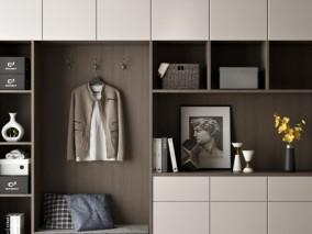 卧室多功能衣柜3D模型