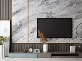 简艺艺术风格电视柜3D模型