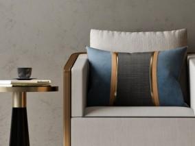 休闲室桌椅组合3D模型