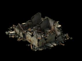 破屋废墟CG模型