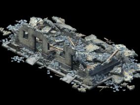 废墟破屋CG模型