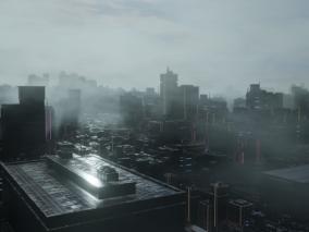赛博朋克城市科幻城市CG场景模型