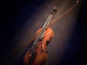 高细节小提琴CG模型