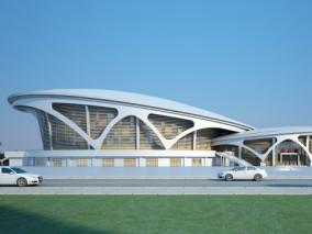 体育馆现代 艺术馆 3d模型