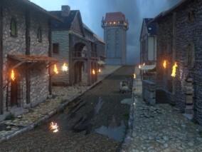 中世纪街道  3d模型