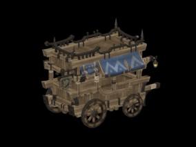 木质小货车 3d模型