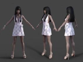 写实女人性感女模特CG模型