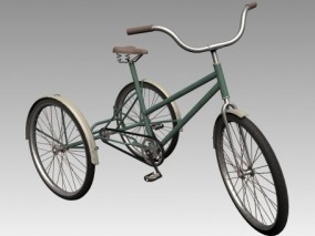 三轮车 3d模型