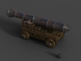 工程跑车火炮CG模型