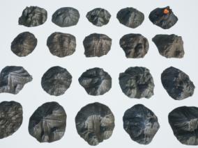 次时代石头场景组合CG模型