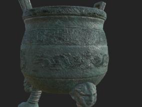 青铜鼎文物CG模型