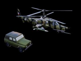 直升飞机 3d模型