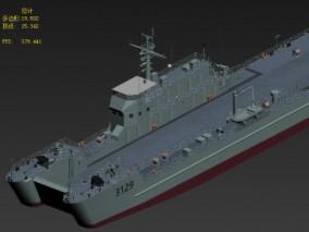 中国海军074A登陆艇CG模型