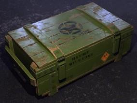 军用板条箱弹药箱CG模型