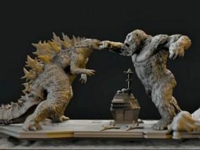 金刚大战哥斯拉  3d模型