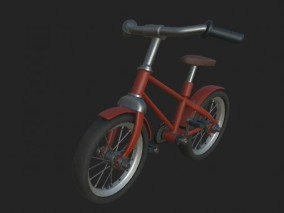 儿童自行车脚踏车CG模型