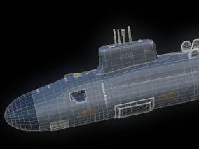 核潜艇 3d模型