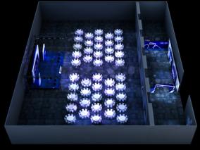 PR活动舞美布置效果图3D模型