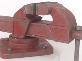 重型台虎钳机械部件CG模型