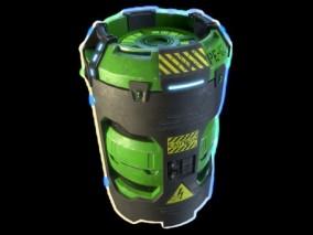 科幻炸弹武器CG模型