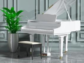 三角钢琴3D模型