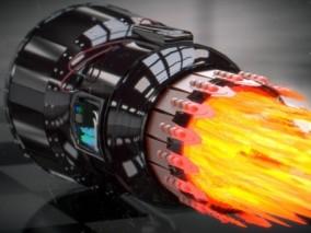 涡轮发动机  发动机   航空发动机 3d模型