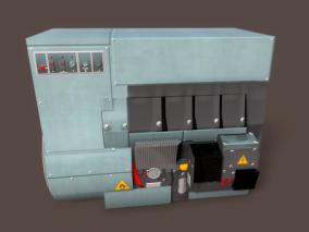 大型发电机 柴油发电机 动力发动机 电机 发电设备 供电机 工地设备 3d模型