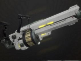 科幻手榴弹发射器 3d模型