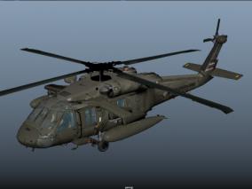 写实黑鹰直升机UH-60CG模型