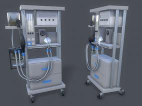 麻醉机心电图医疗器械CG模型
