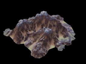 地形 山 山路 郊外  3d模型