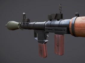 次世代 pbr火箭筒 3d模型
