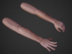 手 VR手 手臂 手部模型 虚拟现实专用手 3d模型